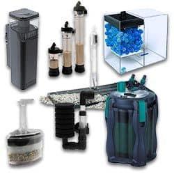 filtros para peceras de agua marina