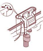 El filtro para acuarios y peceras Marina Slim dispone de un regulador de caudal para ajustar el flujo