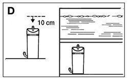 Coloca el filtro externo acuario barato bajo el nivel del agua