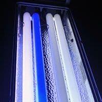 Lámpara fluorescente de luz actinica acuario marino