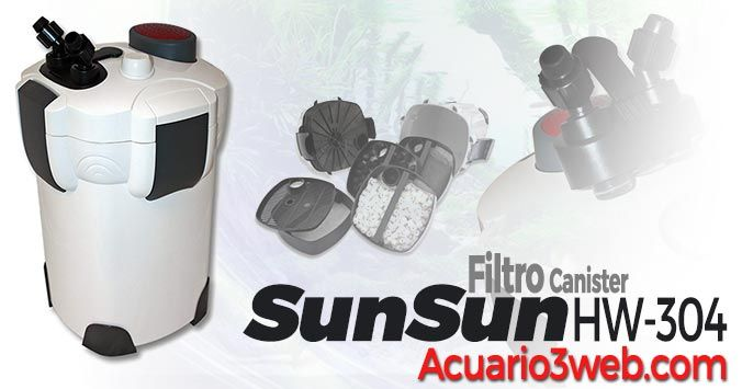 Review del filtro externo SunSun HW-304