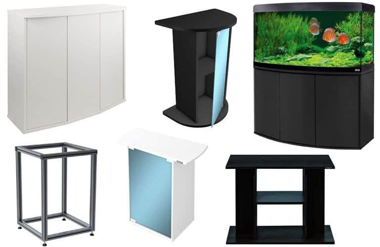 Diferentes modelos de muebles para acuario