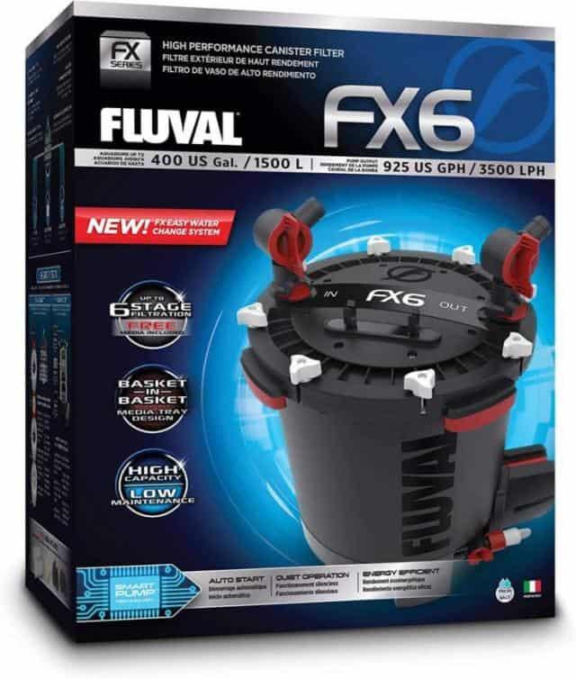Filtro de recipiente Fluval, filtro FX6 en una caja
