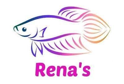 Logotipo de Rena aislado en fondo blanco