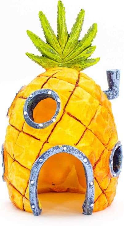 Penn-Plax Adornos de acuario Nickelodeon SpongeBob SquarePants con licencia oficial, seguro para tanques de agua dulce y salada
