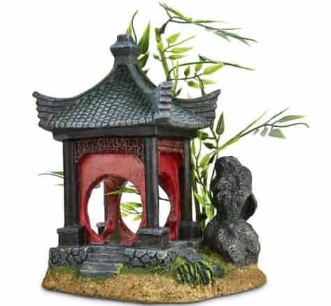 Cenador asiático Imagitarium con adorno de bambú