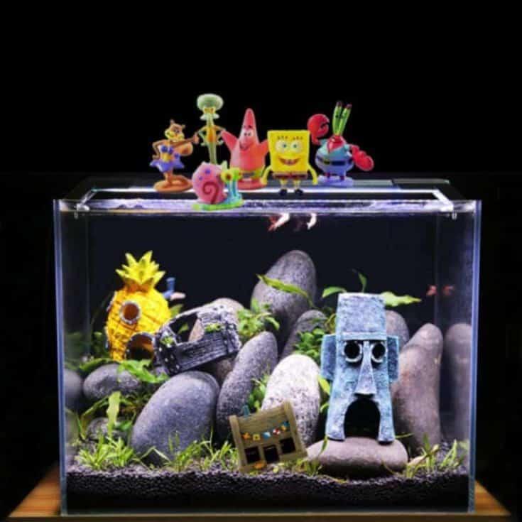 Accesorios para acuarios y más decoración decoración plantas bob esponja sirena