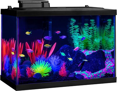 Adorno de anémona de acuario GloFish, mediano, amarillo